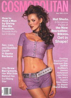 Cosmopolitan magazine, MAY 1993 Model: Kate Moss Photographer: Francesco Scavullo Fashion Magazine Cover, Fashion Cover, 90s Fashion, Magazine Covers, Magazine Wall, Fashion Models, Jason Priestley, Drew Barrymore, Marlene Dietrich