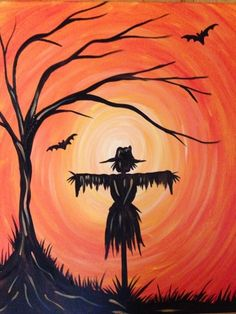 October Scarecrow at Roland's Seafood Grille & Iron Landing Paint Nite Pittsburgh 09/21/2015