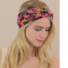 Pink Tropical Twist Headband