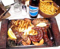 parrillada con Quilmes helada, Argentina's best food