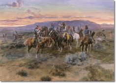 'Scattering the Riders' by Charles M. Russell