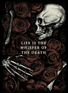 death, flowers, and life image
