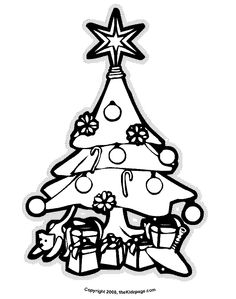 Christmas Tree Holiday and Christmas Free Coloring Pages for Kids - Printable Colouring Sheets