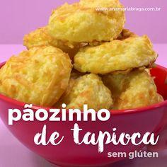 Pãozinho de tapioca sem glúten para um lanche saudável e sem culpa. Healthy Dinner Recipes, Vegetarian Recipes, Cooking Recipes, Good Food, Yummy Food, Going Vegan, Food And Drink, Favorite Recipes, Snacks