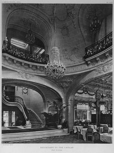 Interior of the restaurant du Pré Catelan, Paris