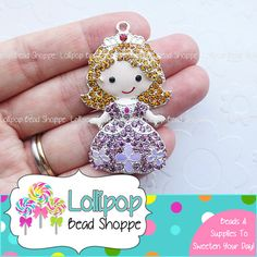 50mm PRINCESS SOFIA Rhinestone Pendant Sofia The First Pendant Chunky Necklace Pendant Sophia Crystal Bubblegum Beads Bubble Gum Beads RP50