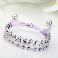 New Retro exquisite bracelet Handmade Adjustable Cord Silver Friendship Bracelet
