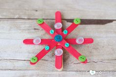 Create Popsicle Stick Snowflake Ornaments for Christmas