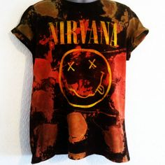19eec6f6670ec0 New Acid Wash Tie Dye NIRVANA Rare 90s T-Shirt XL Indie Grunge Festival Huf