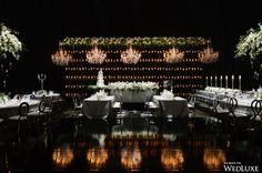 A Dark, Whimsical, and Dreamy Wedding - WedLuxe Magazine Floral Event Design, Floral Designs, Wedding Decorations, Table Decorations, Event Company, Bat Mitzvah, Innovation Design, Corporate Events, Whimsical