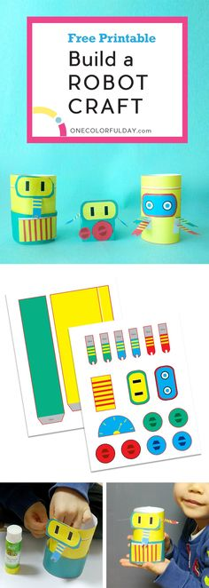 Calling all robot loving boys! This simple build a robot paper craft will be an activity you will love. Make your own little robot by cutting out and adding the robot pieces of your choice.