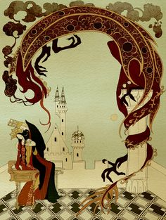 çizgili masallar: The Olive Fairy Book by Kate Baylay  Some beautiful illustrations!