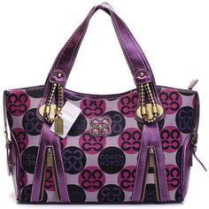 Fashion Coach Kristin Signature Diaper Handbag Purple