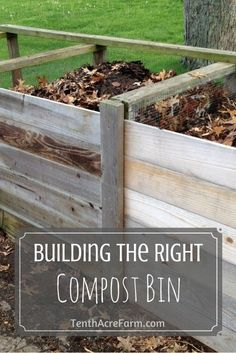 are many ways to build a compost bin. Here are some of the many ways we have composted and what works best for us now.There are many ways to build a compost bin. Here are some of the many ways we have composted and what works best for us now. Organic Gardening, Gardening Tips, Vegetable Gardening, Veggie Gardens, Best Compost Bin, Build Compost Bin, Outdoor Compost Bin, Compost Bucket, Garden Projects