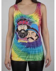 Cheech and Chong Tiedye Junior Fitted Tank