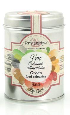 TERRE EXOTIQUE : Colorant alimentaire vert