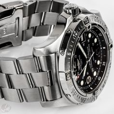 The Breitling SuperOcean SteelFish is one tough watch and one of our favorite Breitling models of the past decade.   The A17390 was introduced in 2006, at that time called the SteelFish X-Plus since there was also a 42mm SteelFish. It was produced until 2012. The earlier models have a square dot for the second hand, while the more recent editions have an arrow hand.