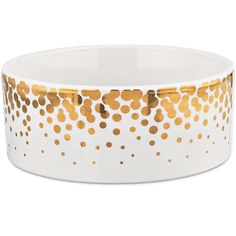 Harmony Gold Dots Ceramic Dog Bowl *** Want additional info? Click on the image. (This is an affiliate link and I receive a commission for the sales)