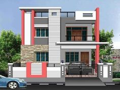 Small modern homes images of different indian house - Paint colors for house exterior simulator ...