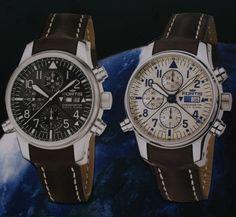 Fortis automaat heren horloge Limited Edition 300 stuks wereldwijd met zwarte of witte wijzerplaat, bruine lederen band, alarm, chronograaf en datum. Prijs €9980,-  www.juweelco.nl