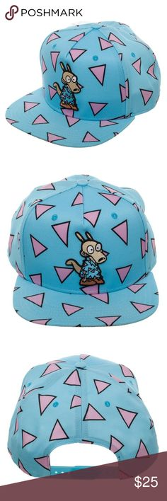 Rocko's Modern Life Adult Snapback Hat Nickelodeon This is for 1 Nickelodeon themed snapback hat.  This very nice hat is officially licensed from Bioworld.  It features Rocko from Rocko's Modern Life.  The pattern on the hat resembles Rocko's shirt, as seen in the cartoon.  The hat is size adjustable.    Style: Snapback Hat  Size:  Adjustable - One Size Fits Most Adults Brand: Bioworld  Intended for Ages 14 and Up.  CONDITION - New  Great for any Nickelodeon fan!  Makes a great gift!   Check…
