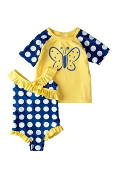 $10for set!!! Absorba Butterfly Dot Swimwear Set by Kids' Swimwear on @HauteLook