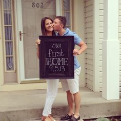 First Home Chalkboard Announcement Picture!