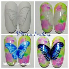 Diseños de uñas Foto Invest in Your Home by Starting In the Basement Article Body: For those lucky h Animal Nail Art, 3d Nail Art, 3d Nails, Butterfly Nail Art, Window Well, Mold And Mildew, Nail Trends, Nail Care, Nail Art Designs