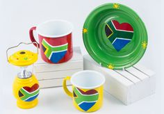 Hand painted I love SA from Lumela afrika - 9581