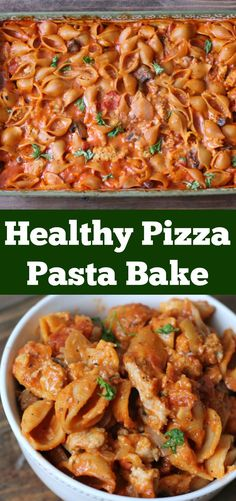 Looking for a great make-ahead dinner recipe? Try this Healthy Pizza Pasta Bake Make-ahead Dinner recipe.