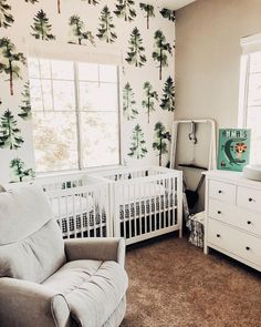 I can't believe that in ONE WEEK from today, we will have two little babies to bring home to this nursery! Anxiety is starting to kick in…