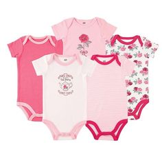 3a1742455 Luvable Friends Baby Girls' 5 Pack Bodysuits - Roses : Target Baby Vision,  Bodysuits