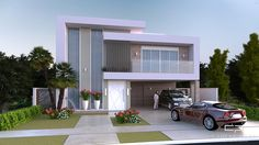 Projeto Arquitetura Moderna Sobrado Condominio Alphaville Campinas 15x30