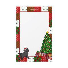 Personalized Black Labrador Puppy Christmas Stationery