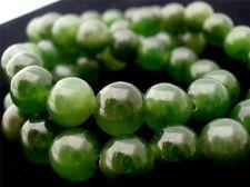 "Antique Green Jade Bead Necklace Green Art Deco Estate Piece 17"" Long"