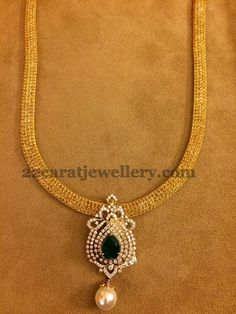 Detachable Simple Diamond Lockets   Jewellery Designs