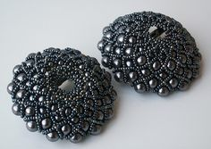 'Black Pearl' Broche 1 and 2 by helen_likes_racing, via Flickr