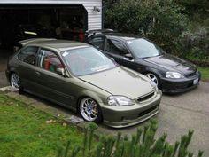 Green Machine. Civic Hatchback