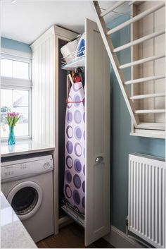 90 Awesome Laundry Room Design and Organization Ideas 88 Modern Navy Laundry Room Design Idea Refresh Laundry room organization Small laundry room ide. Laundry Room Remodel, Laundry Room Cabinets, Laundry Closet, Small Laundry Rooms, Laundry Room Organization, Laundry Room Design, Laundry In Bathroom, Organization Ideas, Diy Cabinets