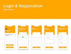 Login And Registration Screen-Google Color -Adobe Xd on Behance Ui Design, Graphic Design, Information Architecture, Mobile App Ui, Adobe Xd, Car Insurance, Screens, Bar Chart, Behance