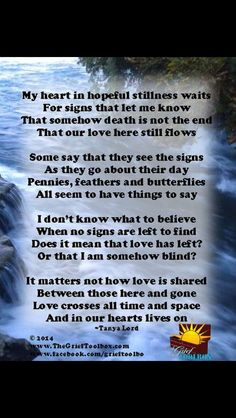 Hopeful. #grief #death #loss