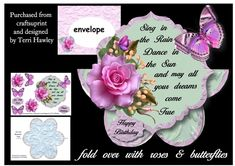 CUP882472_906 - This is a really beautiful mini kit that is really easy to make, and anyone would love to receive it. It is a 3D decoupage...