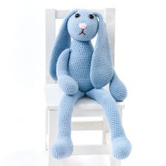 Caron One Pound One Skein Bunny - free crochet patterns - hand made home made stuffed animals - how to crochet a bunny tutorial