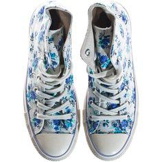 CONVERSE Chuck Taylor High Natural High-top sneakers with print ($115) ❤ liked on Polyvore