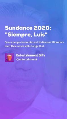 "Sundance ""Siempre, Luis"" by Entertainment GIFs Lin Manuel Miranda, Movie Gifs, Entertaining, Movies, Films, Cinema, Movie, Film, Movie Quotes"