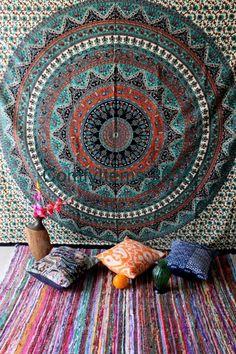 Étoiles éléphant tapisserie Tenture murale Star Wall Art univers Mandala tapisserie Queen Bohemian tapisseries tissu plage couverture imprimée
