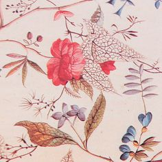 Vintage English Chintz Flowers Decoupage Paper by craftpapersource