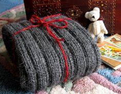 New York: A Guy's Hand Knit Scarf Knitting Pattern by J. L. Fleckenstein