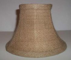32068 Natural Burlap Shade With White Lining