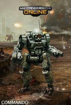 COM-2D Commando Concept from Mechwarrior Online.